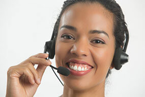 photo of woman in headset