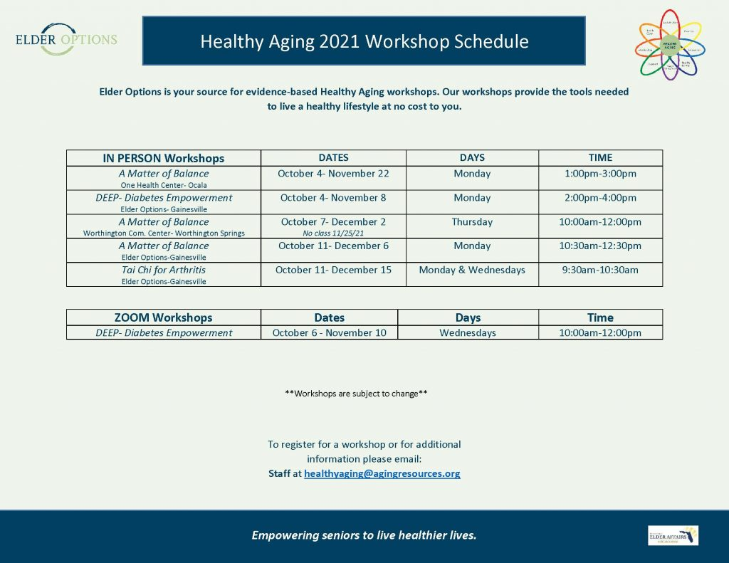 Healthy Aging Classes
